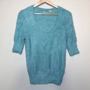 Anthropologie Knitted & Knotted Isola Blue Sweater